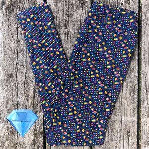 ♦️2/$30 Jewel OS Adult LuLaRoe Leggings -Gemstones